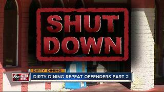Dirty Dining: 17 Restaurants temporarily closed by inspectors 2-4 times for roaches in the kitchen - Video