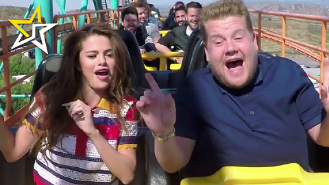Selena Gomez And James Corden Take 'Carpool Karaoke' To A New Heights - On A Rollercoaster