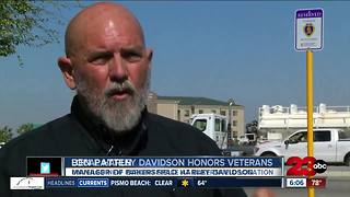 Bakersfield Harley-Davidson dedicates parking space to Purple Heart, combat wounded vet - Video