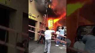 Girls Leap From Dance Studio Balcony To Escape New Jersey Fire - Video
