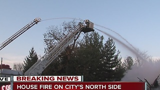 House fire destroys College Ave house - Video