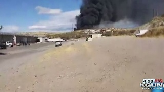 Crews battling fire in Nogales - Video