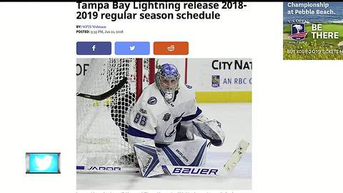 Tampa Bay Lightning release 2018-2019 regular season schedule