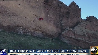 BASE jumper who fell from Camelback Mountain talks about freak accident - Video