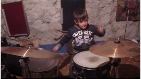 Metallica's 'Enter Sandman' Nailed By Five-Year-Old Boy Drummer