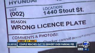 Couple gets $75 ticket after paying for parking in downtown Denver - Video