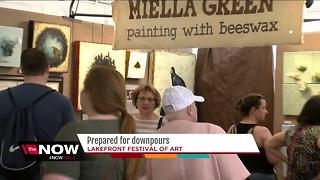 Lakefront Festival of Art ready rain or shine - Video