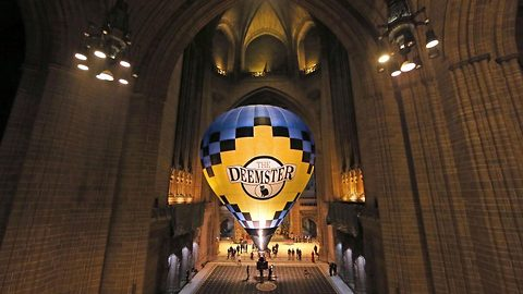 Air balloon measuring 74 foot inflated inside country's largest cathedral