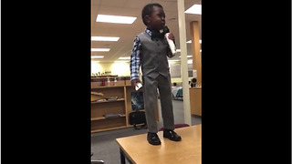 4-year-old gives motivational speech about importance of reading
