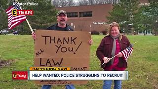 Local police struggling to get new recruits - Video