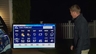 Cloudy, Windy Wednesday with highs near 70 and possible showers this afternoon