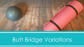 6 glute bridge workout variations in just 1 minute - Video