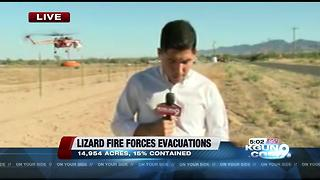Evacuations reinstated for Lizard Fire - Video