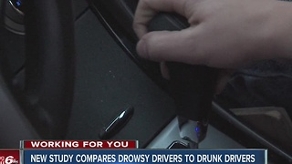 Study compares Drowsy drivers to drunk drivers - Video