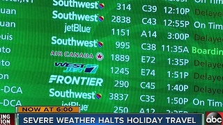 Winter weather airport delays - Video