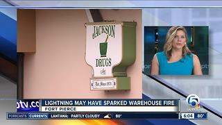 Lightning may have sparked Fort Pierce fire - Video