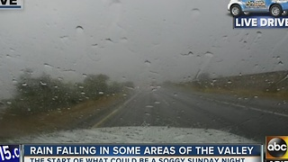 Rainfall in West Valley - Video