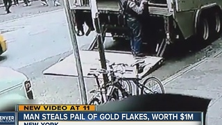 Man steals pot of gold, disappears from NYC - Video