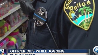 Officer dies while jogging - Video