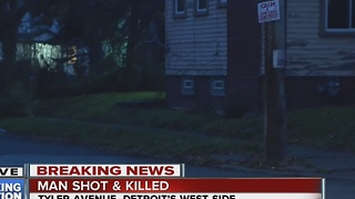 Man shot, killed on Detroit's west side