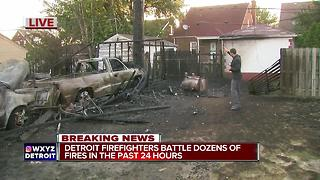 Detroit firefighters battle dozens of fire in past 24 hours - Video