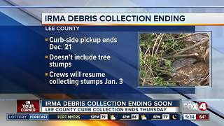 Lee and Collier Counties Irma debris collection ending - Video