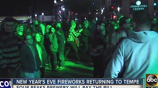Tempe NYE fireworks happening thanks to local brewery - Video