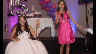11-Year-Old Expertly Roasts Older Sister at Birthday Party - Video