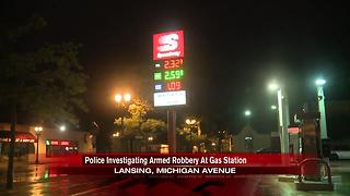 Lansing Police investigate early morning robbery at Speedway - Video