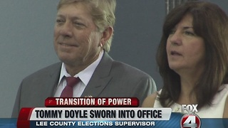 Tommy Doyle sworn in as Supervisor of Elections - Video