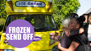 Cortege of ice cream vans follow coffin for fitting send off to popular seller