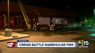 Vacant strip mall in Phoenix catches on fire