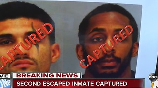 Second escaped inmate captured - Video