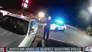 Body cam video of suspect shooting police - Video