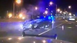Connecticut State Troopers Rescue Driver from Burning Vehicle - Video