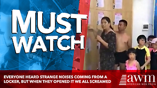 Everyone Heard Strange Noises Coming From A Locker, But When They Opened It We All Screamed - Video