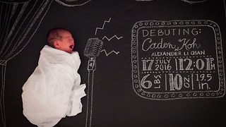 Stop Motion Baby Announcement Has a Musical Flair - Video