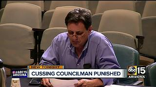 Tempe councilman under for for using foul language - Video