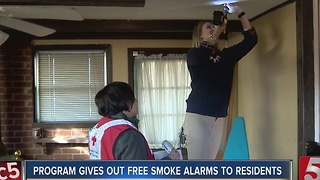 Program Gives Out Free Fire Alarms - Video