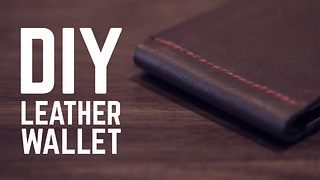 How to make a leather wallet - Video
