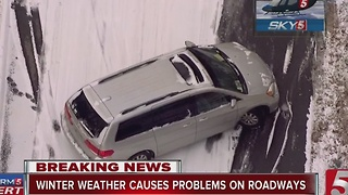 Snow Creates Headache For Drivers In Middle TN - Video