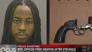 Baltimore Police said officer involved in shooting fired after a struggle - Video
