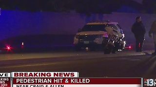 Pedestrian struck, killed by vehicle in North Las Vegas - Video