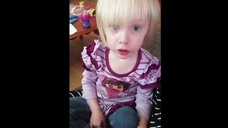 Little girl yells at mom's belly for baby to come out!