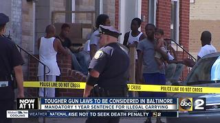 Baltimore City Council to consider minimum 1 year sentence for illegal handguns - Video