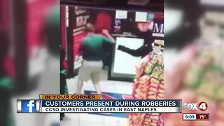 Armed suspect shoves fleeing customers during East Naples robbery - Video