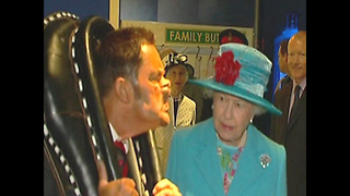Man Pulls Faces At The Queen - Video