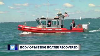 Rescue teams recover body of missing boater - Video