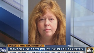 Manager of Anne Arundel County police drug lab arrested on possession - Video