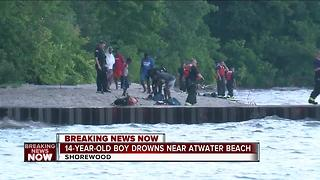 14-year-old boy drowns in Lake Michigan near Atwater Beach - Video
